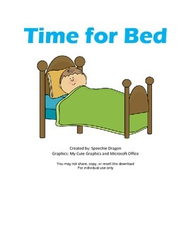 Time for Bed Activity Pack