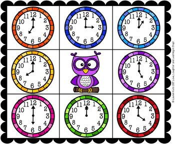 O'Clock Time Bingo