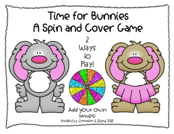 Time for Bunnies! - Spin and Cover or Color Games