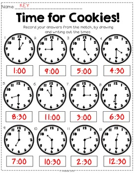 Time for Cookies: Telling Time Activities