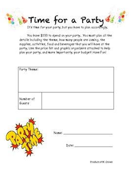 Time for Decimals: A Party Planning Experience