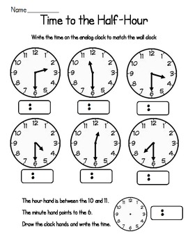 Time for First Graders Worksheet Pack