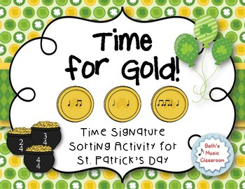 Time for Gold! Time Signature Sorting Game, Meter: 2, 3, & 4