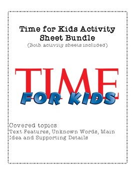 Time for Kids Activity Sheet BUNDLE - Works for ANY TFK magazine!!!