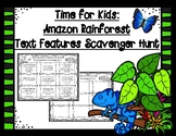 Time for Kids: Amazon Rainforest by William Rice Text Features Scavenger Hunt