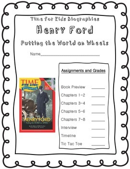 Time for Kids Biographies Henry Ford Informational Text Unit