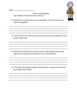 Time for Kids Reading Biography Nonfiction/Informational Text Guided Reading