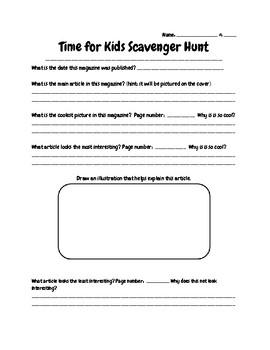 Time for Kids Scavenger Hunt