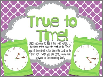 Time for Math- Common Core Time Activities for First Grade