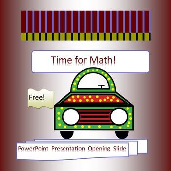 Time for Math Cover Page