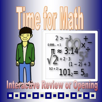 Time for Math PowerPoint  Opening and Review