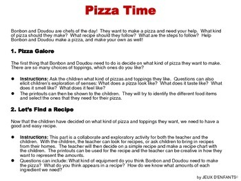 Time for Pizza (problem solving, sequencing)