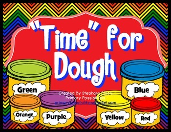 """Time"" for Dough Time Activity {Common Core Aligned}"