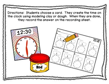 """""""Time"""" for Dough Time Activity {Common Core Aligned}"""