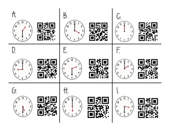 Time for QR Codes!  {Time to the hour and half hour}