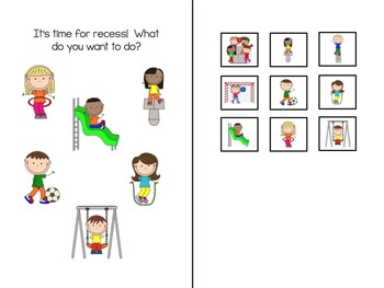 Time for Recess!  Adapted Book