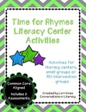 Rhyming Activities Time for Rhymes Literacy Center