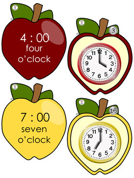 Math-Time for School- Telling time to Hour & Half Hour