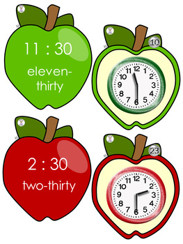 Time to Hour & Half Hour - TIme for School