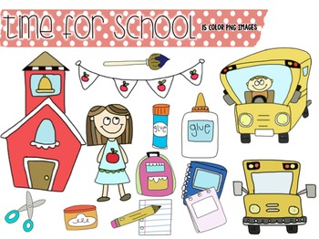 Time for School: Clip Art