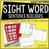 Back to School Predictable Sentence Building