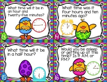 Telling Time Extra Practice Pack