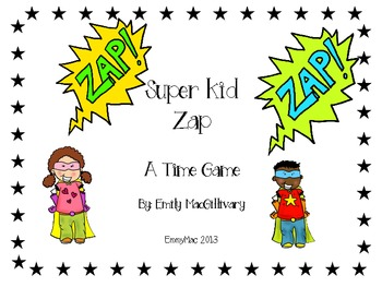 Time for Super Kid Zap - A Time Game
