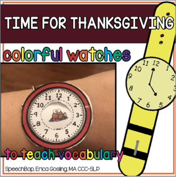 Time for Thanksgiving Things We Eat-  Watches to teach Thanksgiving Vocabulary!