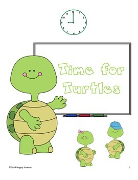 Time for Turtles (telling time to the nearest 5 minutes)