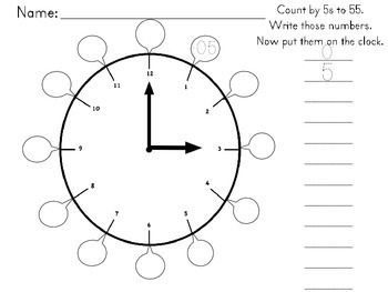 Time for a New Year 2018 Math Activities for Time and Calendar