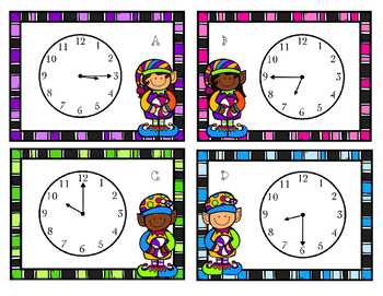 Time for the Candy Elves! Telling Time Task Cards