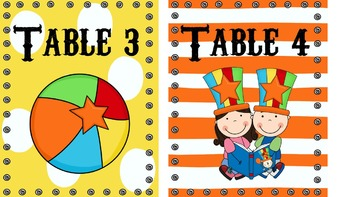 Time for the Circus! (Colorful Table Numbers)