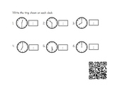 Time hour & half hour with QR