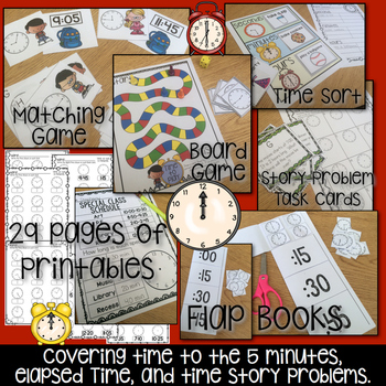 Time in 5 minute Intervals { Activities and Printables }