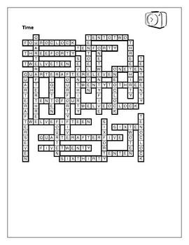Time in English Crossword