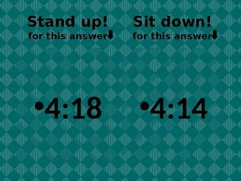 Time in English Stand up Sit down