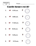 Time in French - Speaking and Listening Activity: Hear-Say