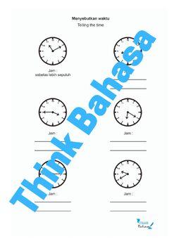 Time in Indonesian (Worksheets & Answer Keys) | Jam dan Waktu