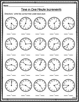 Time in One Minute Increments