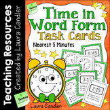 Time in Word Form Task Cards with Images for Plickers
