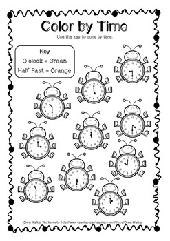 time o 39 clock and half past worksheets printables digital analogue. Black Bedroom Furniture Sets. Home Design Ideas
