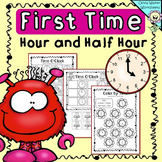 Time- O'clock and Half Past,  Worksheets, Printables, Digi