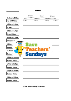 Elapsed time / Time intervals lesson plans, worksheets and more