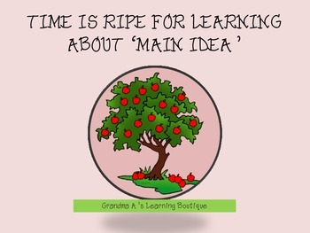 Time is Ripe for Learning About Main Idea