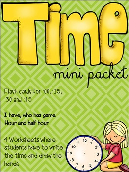 Time mini packet {Freebie}