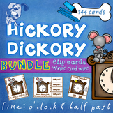 Hickory Dickory Time O'clock Half Past Clip Cards & Write & Wipe BUNDLE
