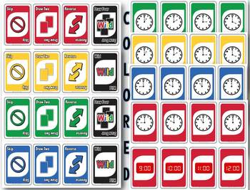 Time-o - telling time to 5 minutes card game