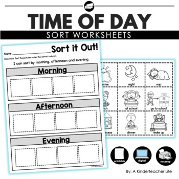 time of day sort by a kinderteacher life teachers pay. Black Bedroom Furniture Sets. Home Design Ideas