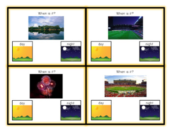Time of Day - Visual Life Skill Task Cards for Special Education / Autism