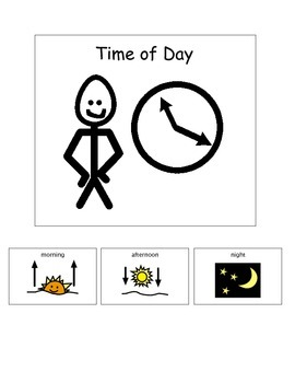 Time of Day adapted book (special education)